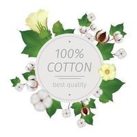 Cotton Realistic Composition Vector Illustration