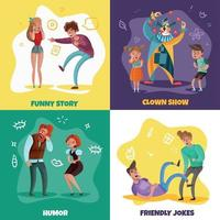 Laughing People Design Concept Vector Illustration