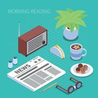 Reading And Library Concept Vector Illustration