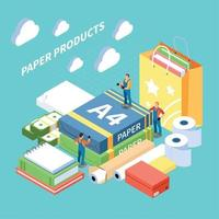 Paper Production Concept Vector Illustration