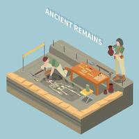 Archeology Isometric Concept Vector Illustration