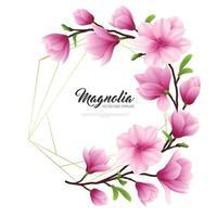 Realistic Magnolia Flower Illustration Vector Illustration