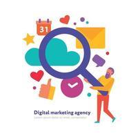 Digital Marketing Agency Illustration Vector Illustration