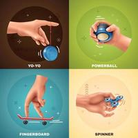 Hand Game Design Concept Vector Illustration