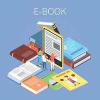 Library Isometric Concept Vector Illustration