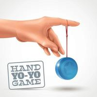 Hand Yoyo Game Background Vector Illustration