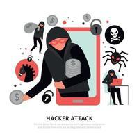 Hacker Attack Illustration Vector Illustration