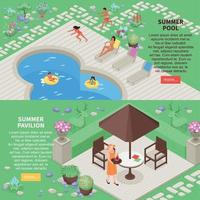 Landscape Design Banners Set Vector Illustration