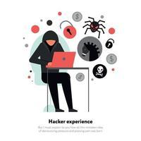 Hacker Flat Illustration Vector Illustration