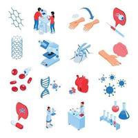 Research Laboratories Icon Set Vector Illustration