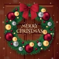 Merry Christmas Ring Background Vector Illustration