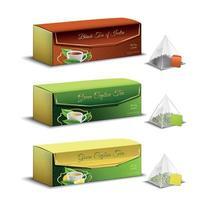 Tea Packaging Realistic Design Vector Illustration
