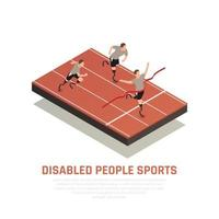 Disabled Sport Isometric Composition Vector Illustration