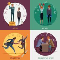 Business Competitions Design Concept Vector Illustration