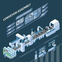 Intelligent Manufacturing Isometric Composition Vector Illustration