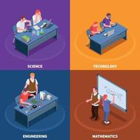 STEM Education Design Concept Vector Illustration
