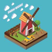 Agriculture Isometric Composition Vector Illustration