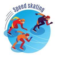 Speed Skating Round Background Vector Illustration