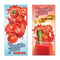 Tomato Juice Vertical Banners Vector Illustration