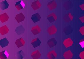 cubos realistas en pantalla. fondo degradado abstracto. diseño de patrón geométrico vector