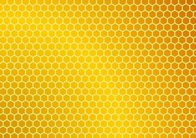 Beehive on golden screen. Abstract pattern background. Hexagon design vector