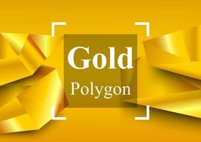 Golden abstract background. Low polygon. Vector illustrator