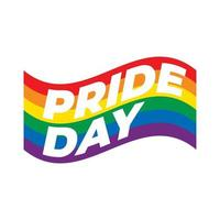 Pride day flag isolated on white background. vector