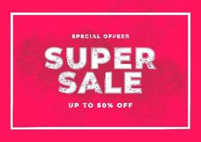 Super Sale special offer. End of season special offer banner. vector