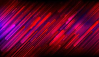 Abstract red purple glowing geometric rounded diagonal line dynamic shapes composition with lighting effect background. Vecor illustration vector