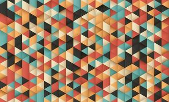 Abstract pastel colorful triangle pattern design background. Modern retro concept. You can use for cover brochure template, poster, banner web, flyer, print ad, etc. Vector illustration