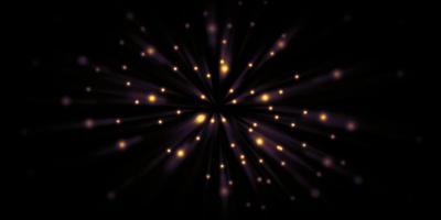 Estelas de luz en movimiento rápido zoom explosión de luz ilustración 3d foto