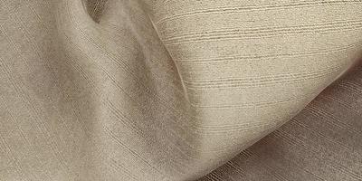 silk texture wave curtain organza fabric light beige 3d illustration photo