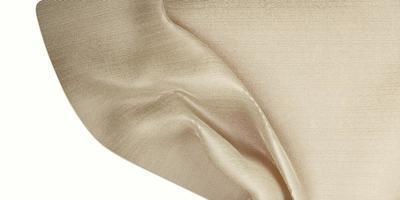textura de seda cortina de onda tela de organza beige claro ilustración 3d foto