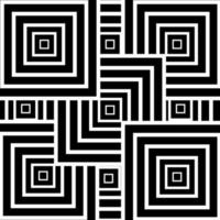 Abstract lines square geometric black and white background and texture. vector