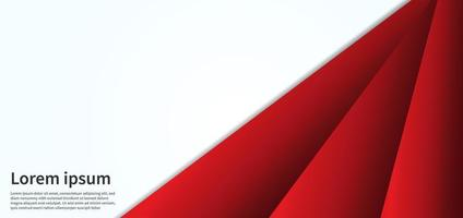 Abstract red line geometric on overlap white texture and banner design template. vector