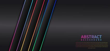 Abstract colorful stripe diagonal on black background with space for your text. Modern style. vector