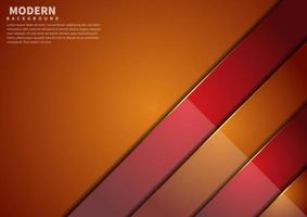 Abstract orange and red overlap layers background with copy space for text. Modern style. vector