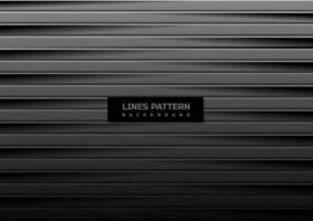 Abstract horizontal black and gray lines with shadow pattern background and texture. vector