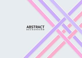 Celosía geométrica abstracta estilo moderno diagonal púrpura y rosa sobre fondo blanco con espacio para el texto. vector