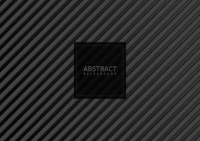 Abstract gray stripe pattern diagonal on black background and texture. vector