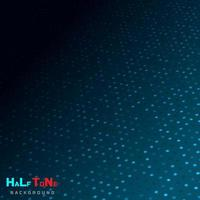 Abstract blue halftone with dot pattern and glowing lights on dark background technology style. vector