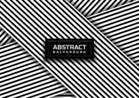 Abstract black striped line pattern on white background and texture. vector