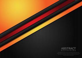 Abstract template orange on black background with copy space for text. vector