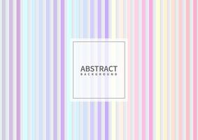 Abstract vertical geometric pastel color pattern on white background and texture. vector