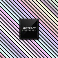 Abstract pastel Color Diagonal Striped Lines Pattern on Black Background. vector