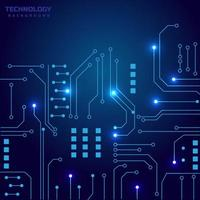 Abstract technology circuit board and connection system background with digital data. vector