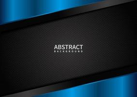 Abstract template Corporate Concept Geometric Triangle blue and Black on Dark Background. vector