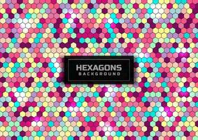 Abstract colorful hexagon pattern background. Hexagon texture effect. vector