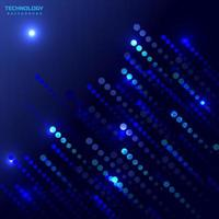 Abstract circle diagonal lines on blue and dark blue background technology futuristic concept. vector