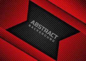 Abstract geometric red and black overlap background. vector